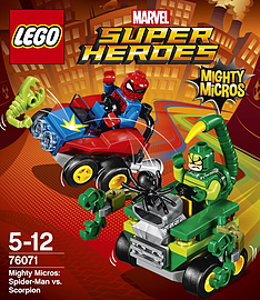 Lego Super Heroes Mighty Micros: Spider-Man vs. Scorpion 76071Blocks and Bricks