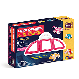 Magformers My First Buggy Car Set PinkBlocks and Bricks