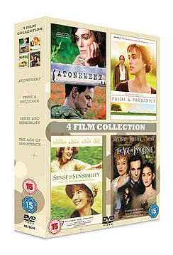 4 Film Collection Atonement/Age Of Innocence/Pride and Prejudice/Sense and Sensibility DVDDVD