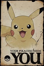 Pokemon Pikachu Needs You Poster 61x91.5cmPosters