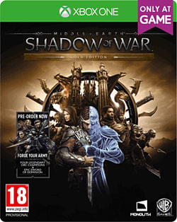 Middle-earth: Shadow of War Gold Edition - Includes Season Pass - Only at GAMEXbox OneCover Art