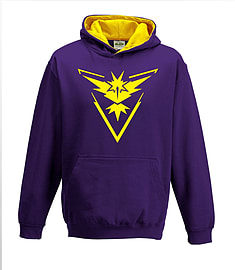 Bullshirt's Kid's Team Instinct Contrast Hoodie (Purple & Gold, 7-8 Years)Clothing and Merchandise