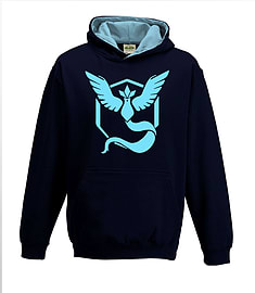Bullshirt's Kid's Team Mystic Contrast Hoodie (Navy & Sky, 12-14 Years)Clothing and Merchandise