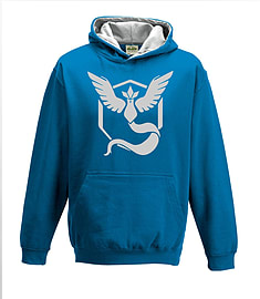 Bullshirt's Kid's Team Mystic Contrast Hoodie (Sapphire & Grey, 12-14 Years)Clothing and Merchandise