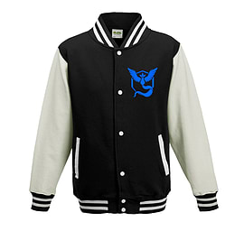 Bullshirt's Kid's Team Mystic Varsity Jacket (Black & White, 9-11 Years)Clothing and Merchandise