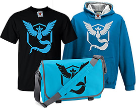 Bullshirt's Kid's Deluxe Team Mystic T-Shirt, Contrast Hoodie & Messenger Bag Set (5-6 Years)Clothing and Merchandise