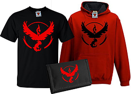 Bullshirt's Kid's Deluxe Team Valor T-Shirt, Contrast Hoodie & Wallet Set (7-8 Years)Clothing and Merchandise