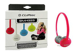 CLiPtec® Cute-Chat Bright Multimedia Headphones - Inline Mic Gaming & Chat PinkAudio
