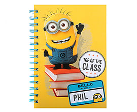 Minions Spiral A5 NotebookStationery