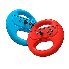 Nintendo Switch Joy-Con Steering Wheel - Blue and Red Twin PackSwitch