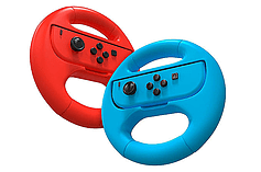 Nintendo Switch Joy-Con Steering Wheel - Blue and Red Twin Pack screen shot 1