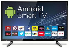"Cello C32ANSMT 32"" Android Smart Freeview T2 HD LED TV with Wi-FiTV and Home Cinema"