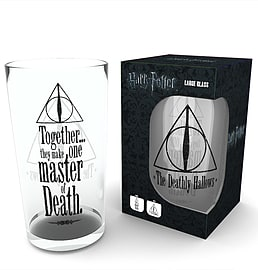 Harry Potter Deathly Hallows Pint GlassHome - Kitchen