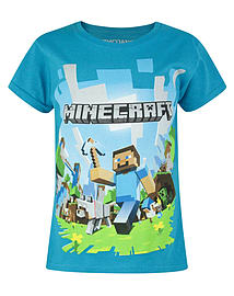 Minecraft Adventure Girl's T-Shirt (7-8 Years)Clothing and Merchandise