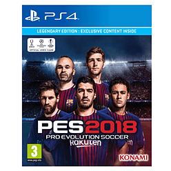 Pro Evolution Soccer 2018 - Legendary Edition - Only at GAMEPlayStation 4Cover Art
