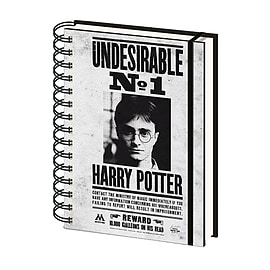 Harry Potter Note Book Undesirable Poster Official New White A5 Lined SpiralSize:Stationery