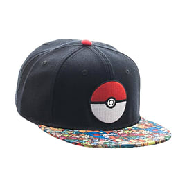 Pokemon Poke Ball Sublimated Bill Snapback CapCounter Basket