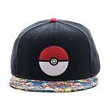 Pokemon Poke Ball Sublimated Bill Snapback Cap screen shot 1