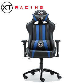 XTRacing EVO Recliner Racing Gaming Office Chair Esports Desk Seat BlueMulti Format and Universal