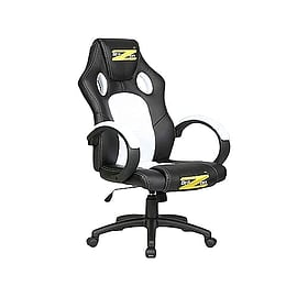 BraZen Shadow PC Gaming Chair White/BlackMulti Format and Universal
