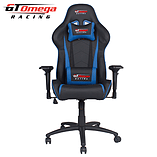 GT Omega PRO Racing Office chair Black Next Blue leather screen shot 1