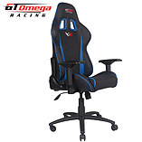 GT Omega PRO Racing Office chair Black Next Blue leather screen shot 2
