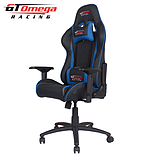 GT Omega PRO Racing Office chair Black Next Blue leather screen shot 4