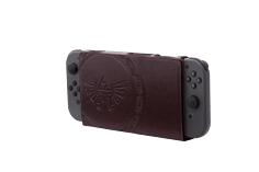Nintendo Switch Hybrid Cover - Zelda Hylian Crest Leatherette screen shot 2