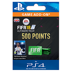 500 FIFA 18 Points PackPlayStation 4