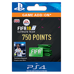 750 FIFA 18 Points PackPlayStation 4