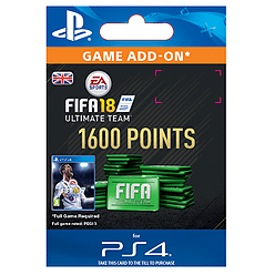 1600 FIFA 18 Points PackPlayStation 4