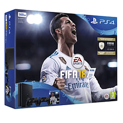 PlayStation 4 500GB FIFA 18 with Second DualShock 4 Controller PlayStation 4