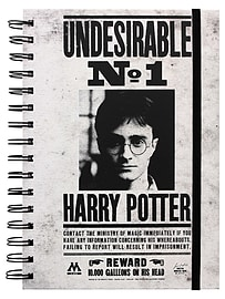 Harry Potter Undesirable No1 A5 NotebookStationery