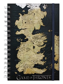 Game of Thrones Map A5 Notebook BlackStationery