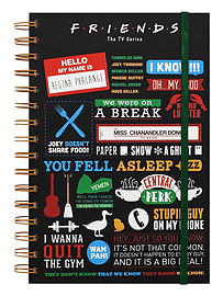 Friends Infographic A5 Notebook BlackStationery