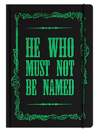 Harry Potter He Who Must Not Be Named A5 Black Hardcover Notebook 15x21x1.5cmStationery