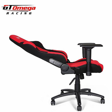 GT Omega PRO Racing Office Chair Red And Black Fabric