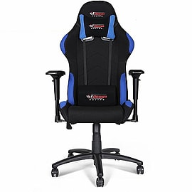GT Omega PRO Racing Office Chair Black with side Blue FabricMulti Format and Universal