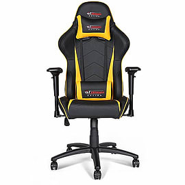 GT Omega PRO Racing Office Chair Black Next Yellow LeatherMulti Format and Universal