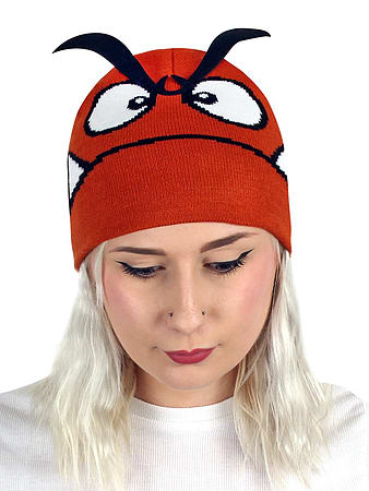 75b39c0886f Super Mario Nintendo Goomba 3D Eyebrows Brown Beanie  One size Fits All