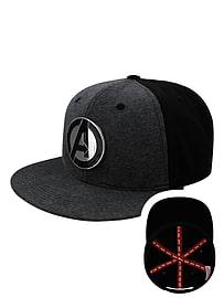 362751d0147c5 Buy Men s Marvel Avengers Metal Logo Black Snapback Cap  One size Fits All
