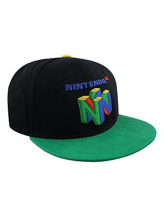 0a01855d524 Buy Nintendo N64 Logo Black Snapback Cap  One size Fits All