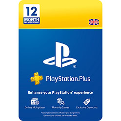 PlayStation Plus 12 Month Membership - 25% Discount PlayStation 4