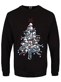 Men's Pile o' Bones Black Christmas Jumper: Extra Large (Mens 42- 44)Clothing and Merchandise