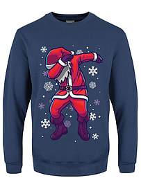 Men's Santa Dab Christmas Sweater Airforce Blue: Large (Mens 40- 42)Clothing and Merchandise
