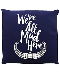 We're All Mad Here Cushion Navy 40x40cmHome - Accessories