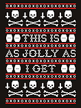 This Is As Jolly As I Get Men's Christmas Sweater Black: Large (Mens 40- 42) screen shot 2