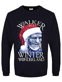 Men's Walker In A Winter Wonderland Christmas Sweater Navy: Large (Mens 40- 42)Clothing and Merchandise