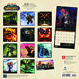 World of Warcraft 2018 Square Wall Calendar 30x30cm screen shot 1
