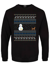 Men's Yellow Snow Christmas Sweater Black: Small (Mens 36 - 38)Clothing and Merchandise